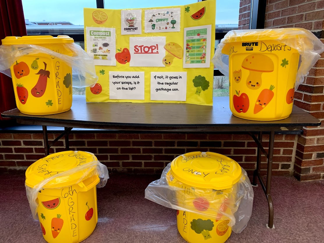 Go Green: Compost bins in cafeteria
